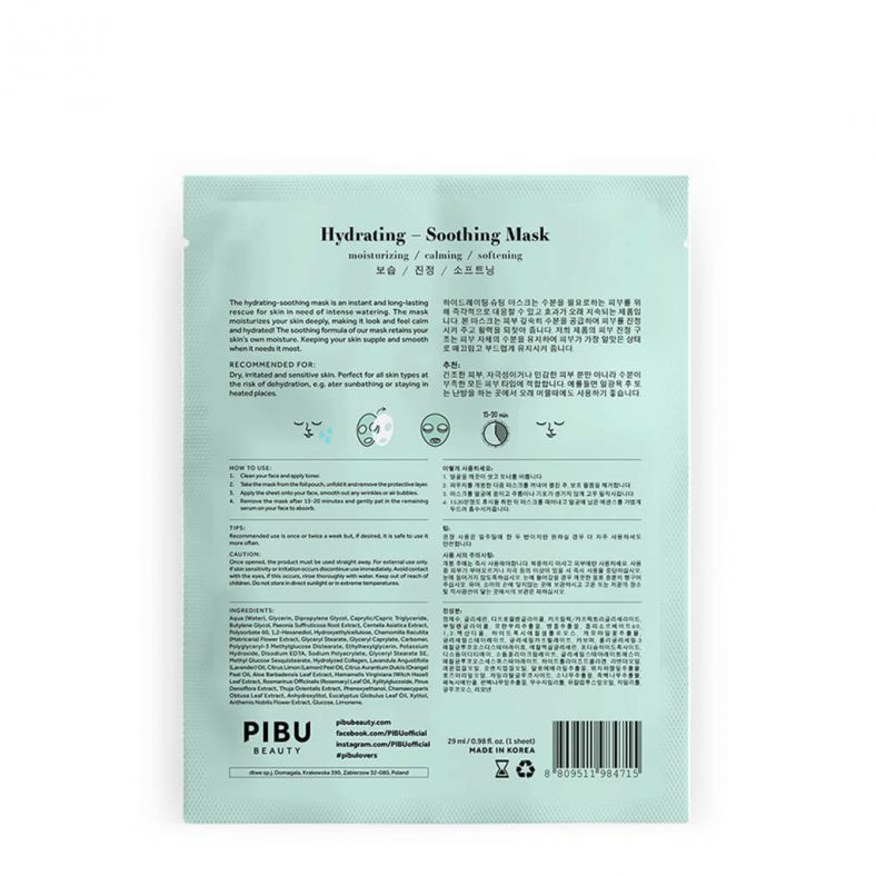 Pibu Hydrating - Soothing Mask